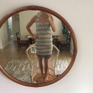 Grey and White fringe dress